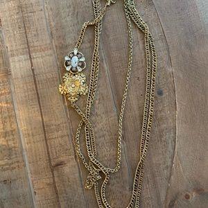 Jewelry - Three chain statement necklace